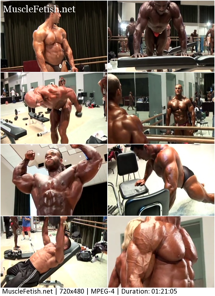 2009 IFBB Tampa Pro Bodybuilding Championships Backstage...