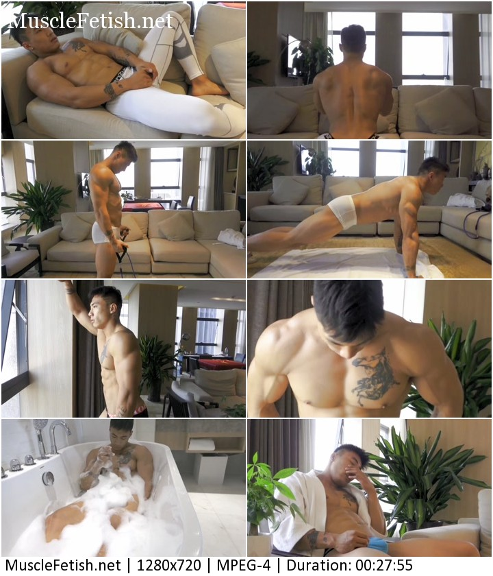 Asian muscle hunk Jiang from BlueFlame - photoshoot vol 5