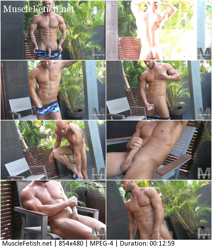 Athletic guy Lee Steed from Legend Men masturbation and cum