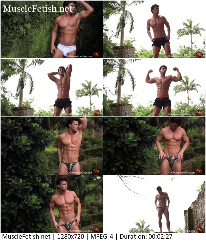 Athletic model Anthony Logger Jamaica - short photo shoot from ALLAMERICANGUYS