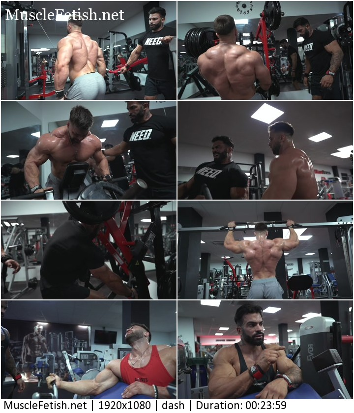 Beautiful bodybuilders Sergi Constance and Regan Grimes - back and biceps workout