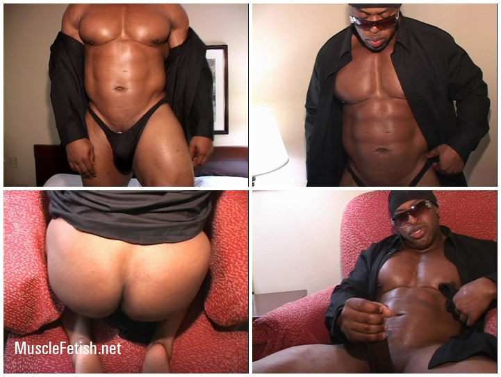 Black Bodybuilder Rodney St. Cloud Shows Muscle Ass