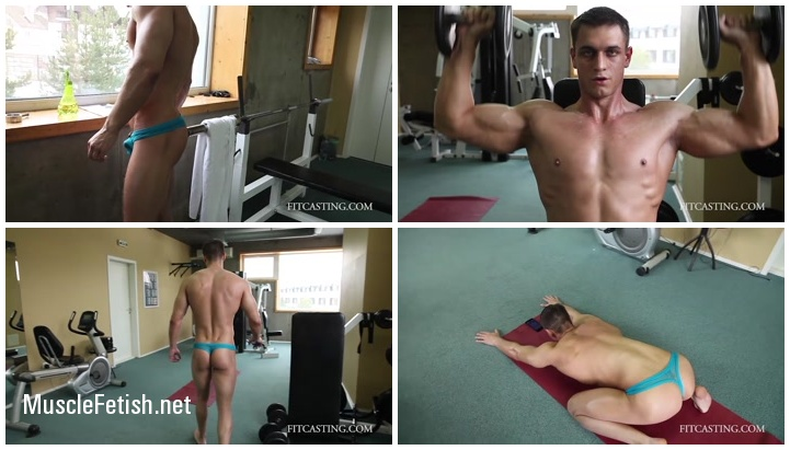 fitcasting AleksandrT posing workout