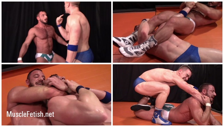 Bodybuilder Alex Costa vs Brad Honeycutt - Muscle Boy Wrestling
