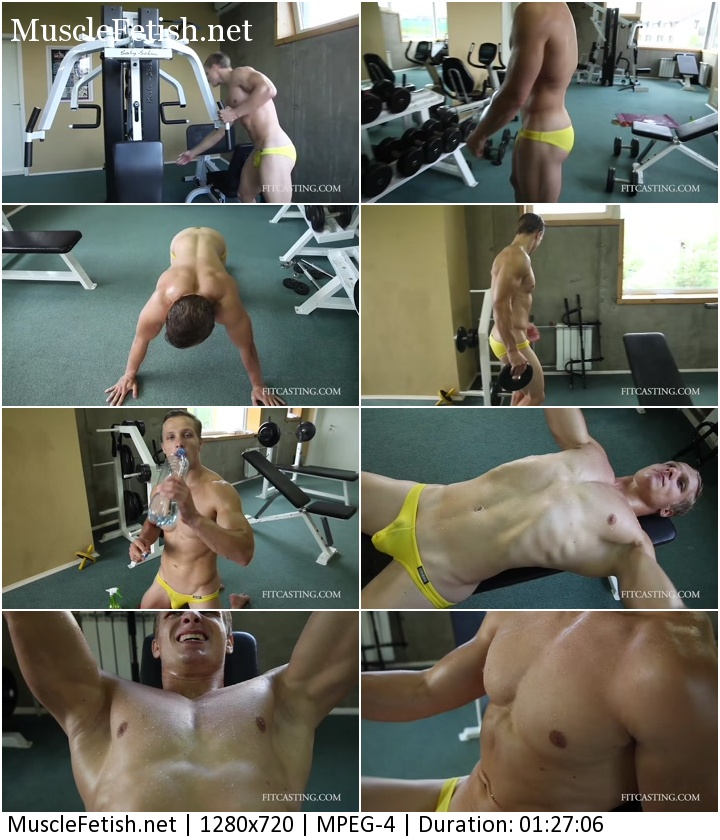 Bodybuilder Alex - Pec Pump Challenge (Fitcasting)