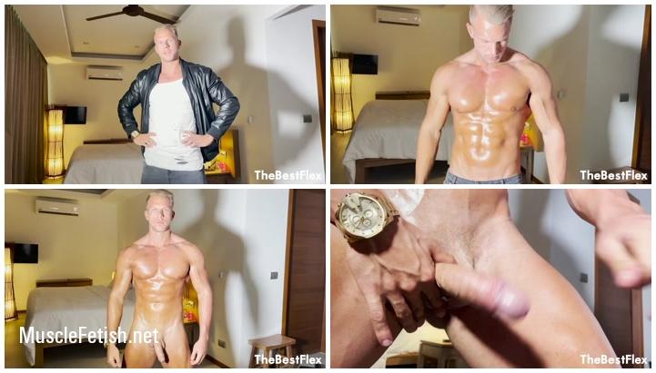 Bodybuilder Alexander Steel - Leather Master Cums Down Your Throat POV