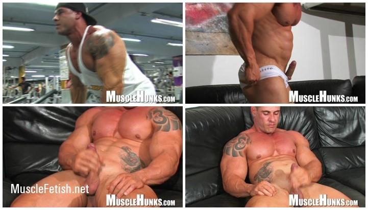 Bodybuilder Brian Gunns - Brian's Bulging Buffness from MuscleHunks