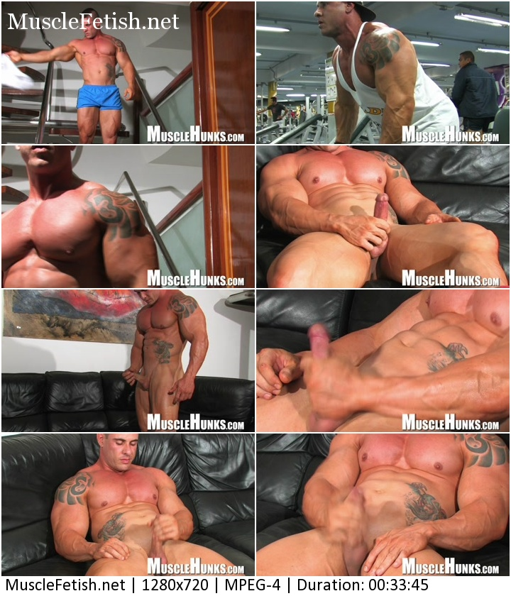 Bodybuilder Brian Gunns - Brian's Bulging Buffness - photo shoot from MuscleHunks
