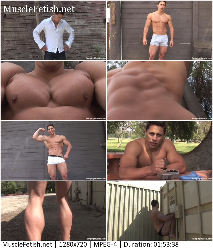 Bodybuilder Charley M photoshoot - PumpingMuscle video 2015