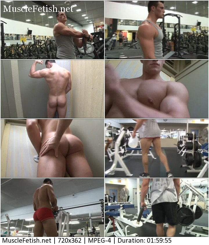 Bodybuilder Collin H from PumpingMuscle posing in the gym