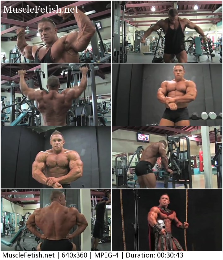 Bodybuilder Daniel Toth - gym workout and photo session