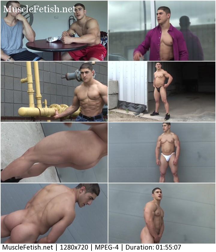 Bodybuilder Derek R photoshoot part 2 - pumping muscle