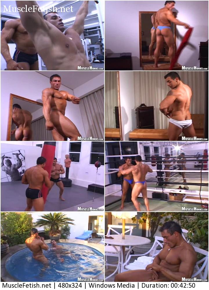 Bodybuilder Gilberto Nestore from Powermen and Andy Travers
