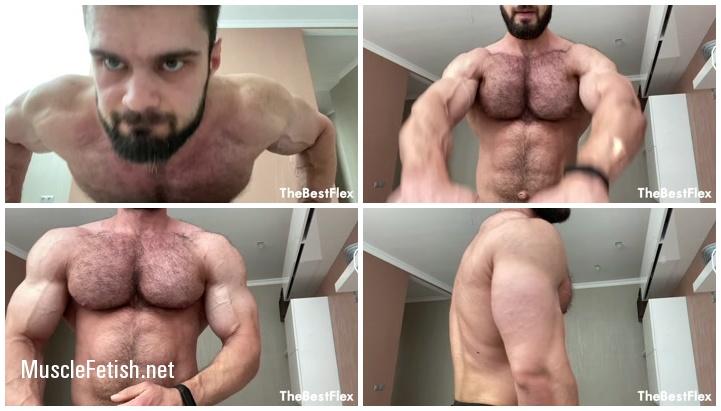 Bodybuilder Jeff B - Muscle Pump And Flex