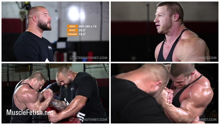 Bodybuilder Joel Thomas Armwrestling vs Bouncer and Security