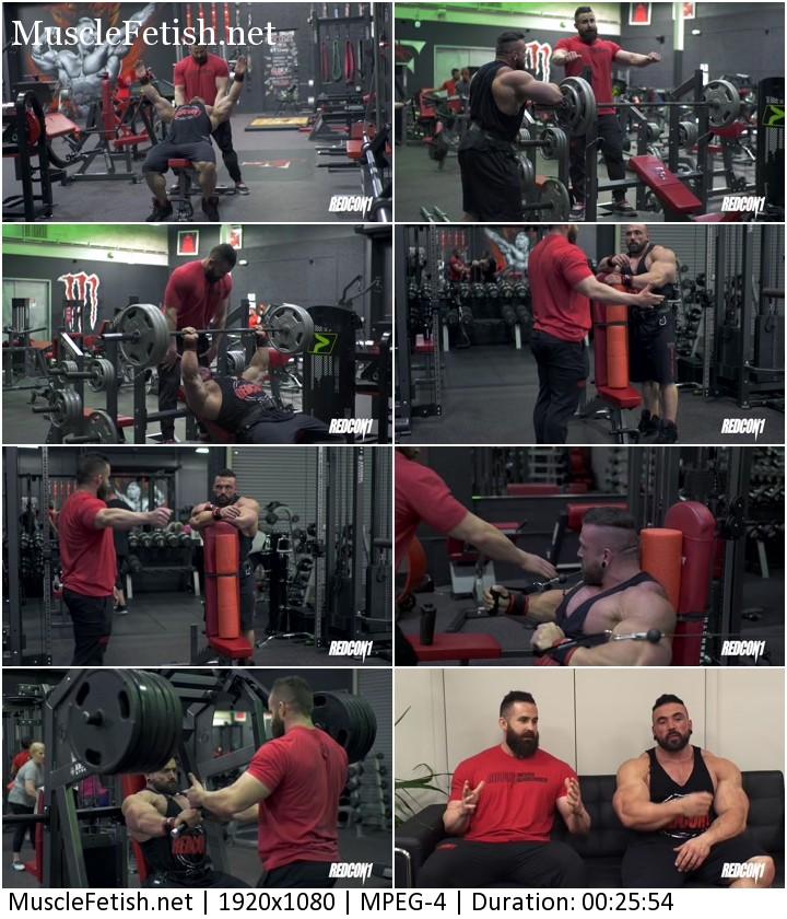 Bodybuilder Luke Sandoe Trains Chest with Joe Bennett