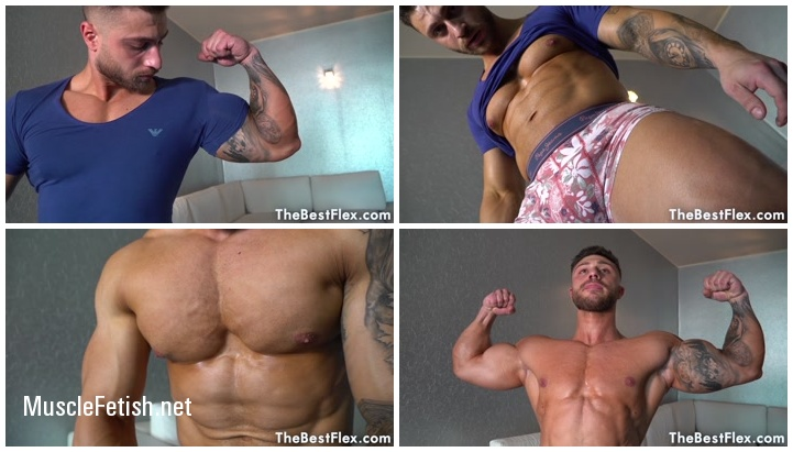 Bodybuilder Michael - Big Muscles In Tight Shirt