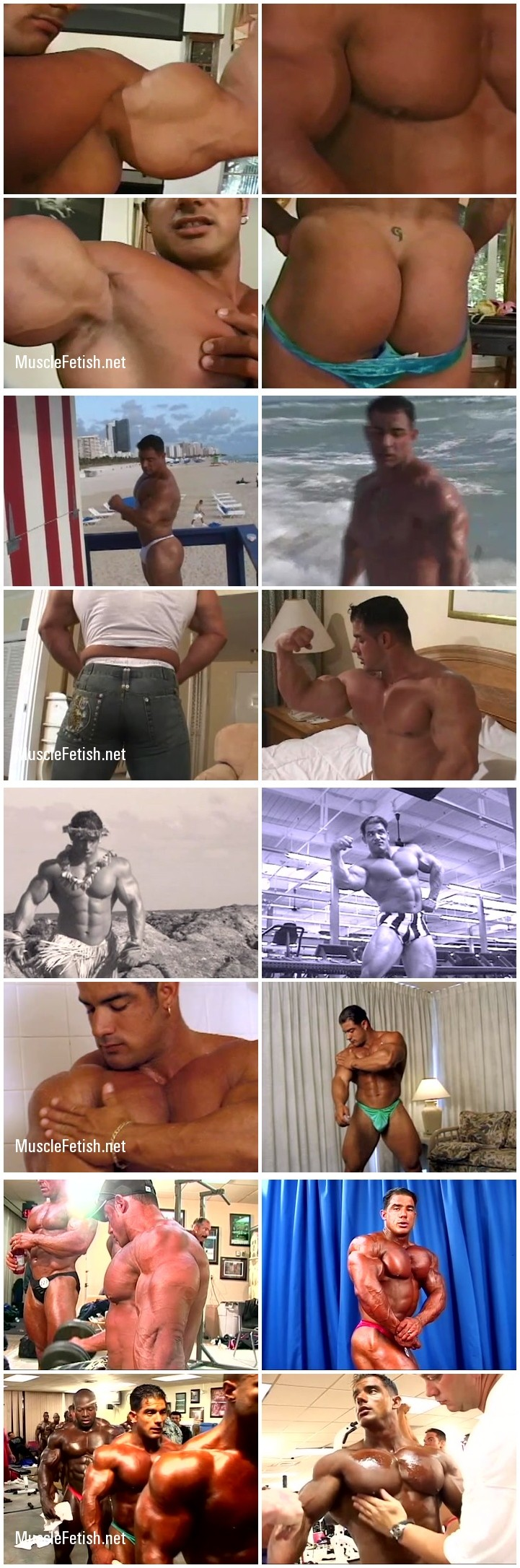 Bodybuilder Mike Dragna - muscle video pack