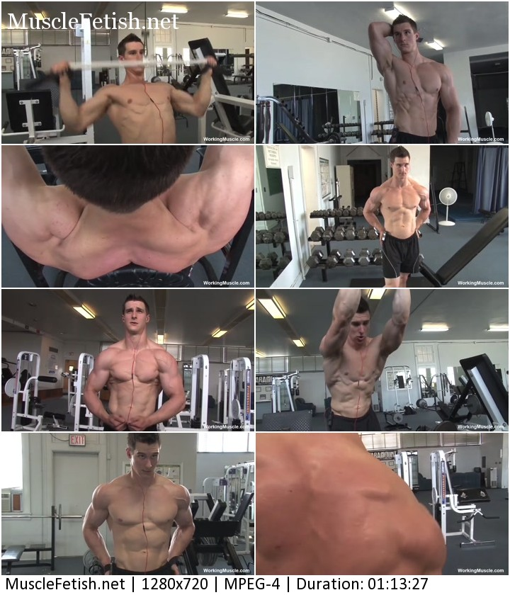 Bodybuilder Mike - photoshoot in the gym from workingmuscle