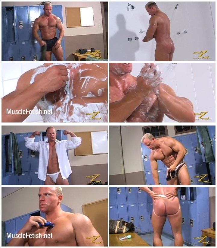 Bodybuilder Nick Fabian - natural alpha male from JimmyZ - workout and shower