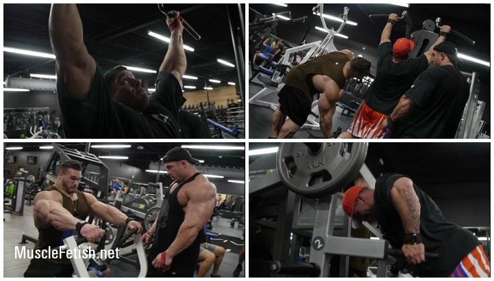 Bodybuilder Nick Walker Back Day With Brett Wilkin and Matt Jansen