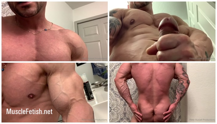 Bodybuilder Peter Russell - Veiny Muscles and Thick Cock