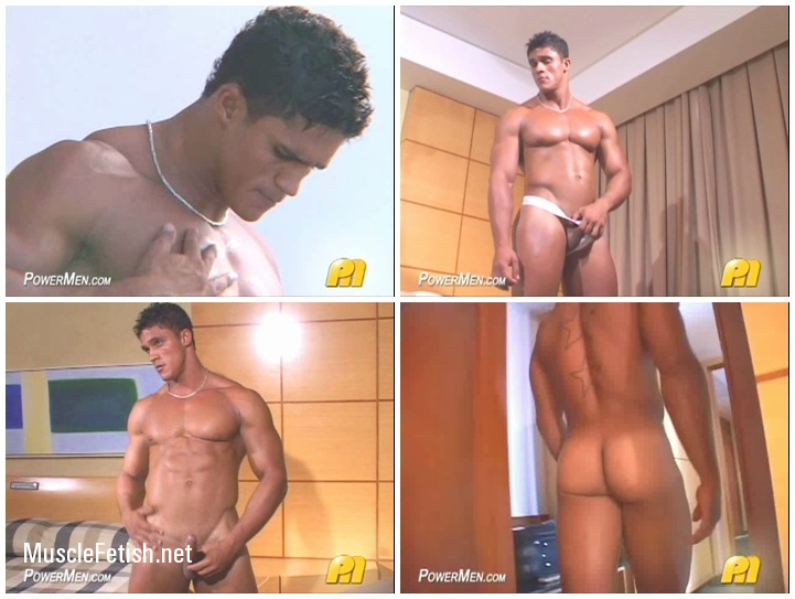 Bodybuilder Rafael Pinto in a series of new men