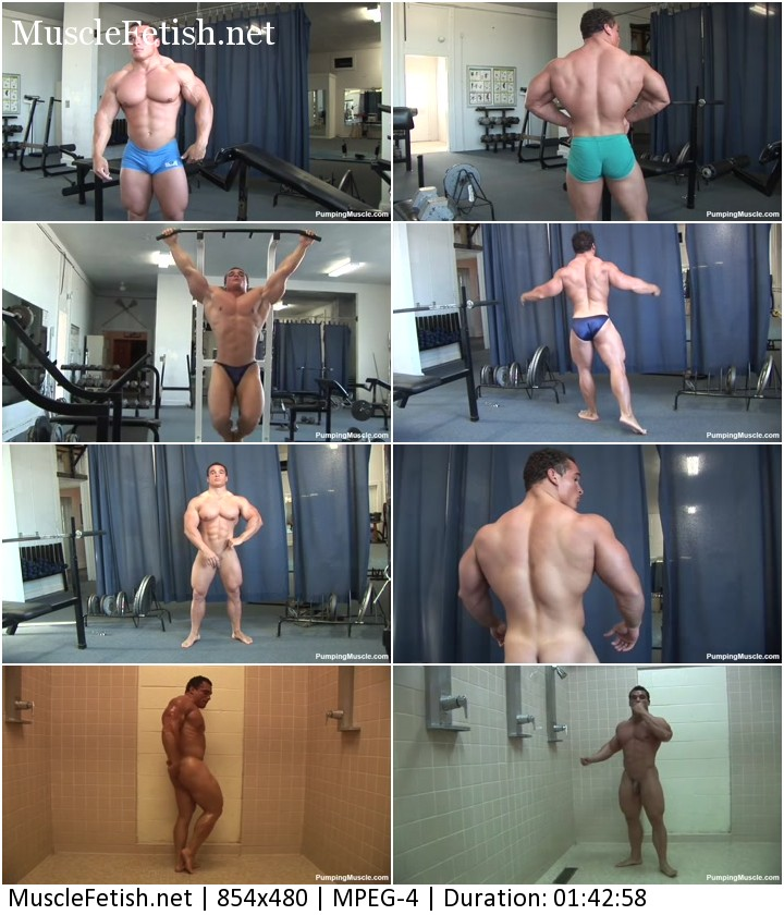Bodybuilder Roelly photoshoot (male nudity)