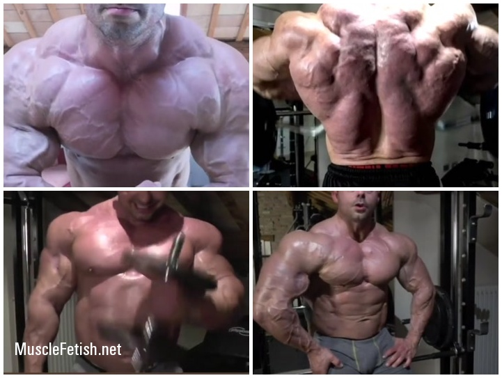 Bodybuilder Vecchi Mattia Flexing Big Pecs