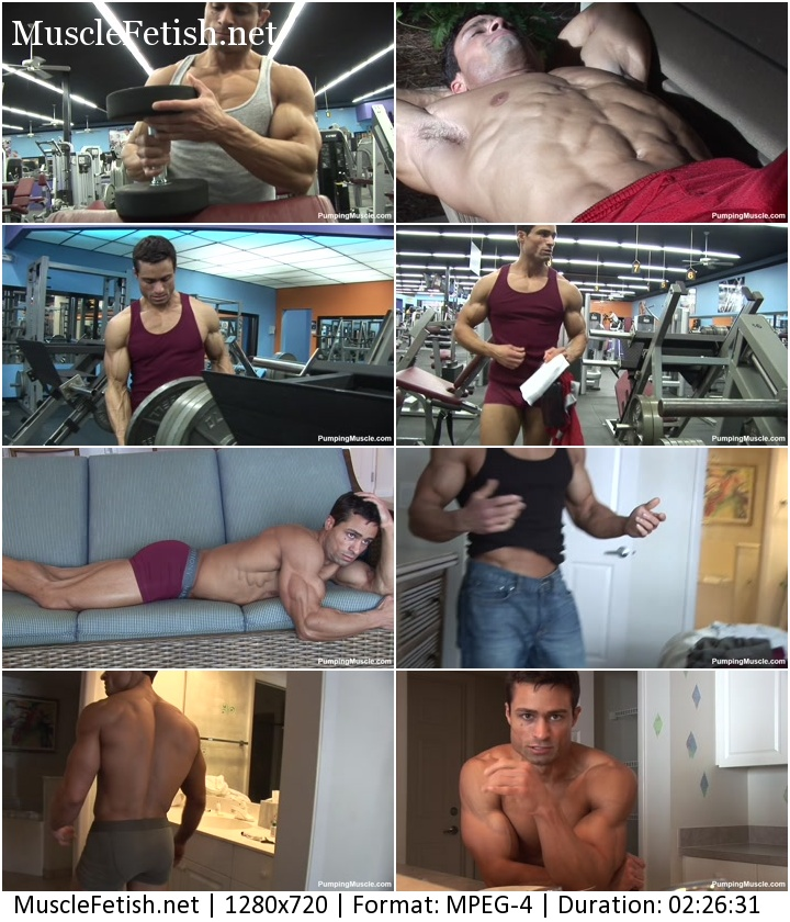 Bodybuilder from pumpingmuscle - Aidan G photoshoot part 2