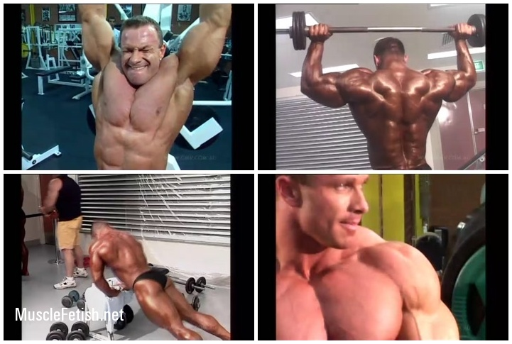 Bodybuilders Jaroslav Horvath and Ronny Rockel - training and contest footage