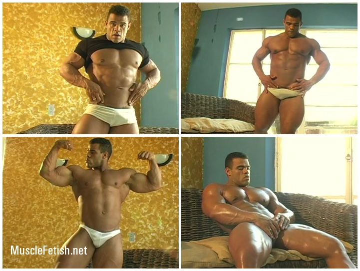 Brazilian bodybuilder Fabio poses on cam