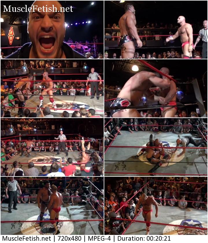 Brian Cage vs Chris Dickinson - male wrestling show