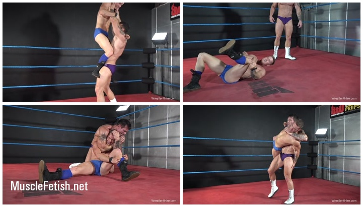 Cameron vs Joey Nux - Hot Male Wrestling from W4H