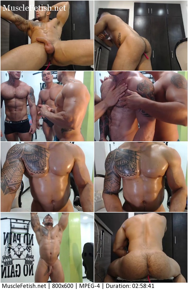Colombian bodybuilders from Chaturbate - sexy webcam show