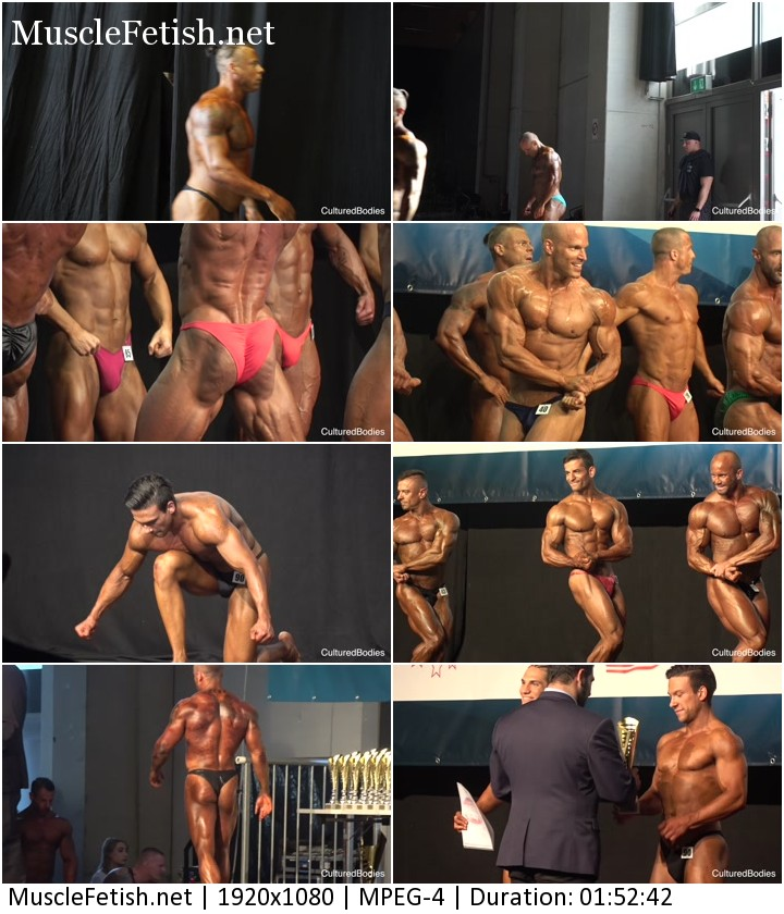 Cultured bodies Austria cup 2018 international - big video file for male muscle fans