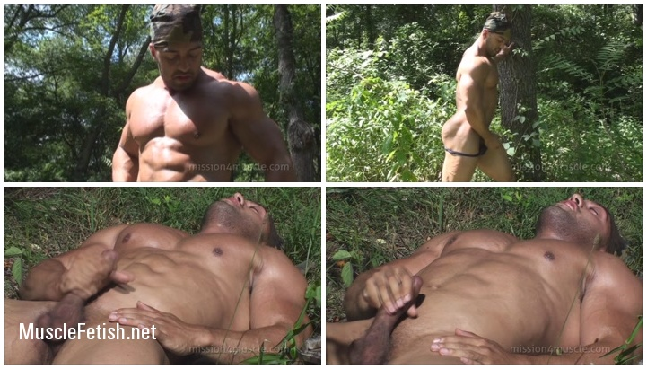 Cumming of Muscle God Titan from Mission4Muscle
