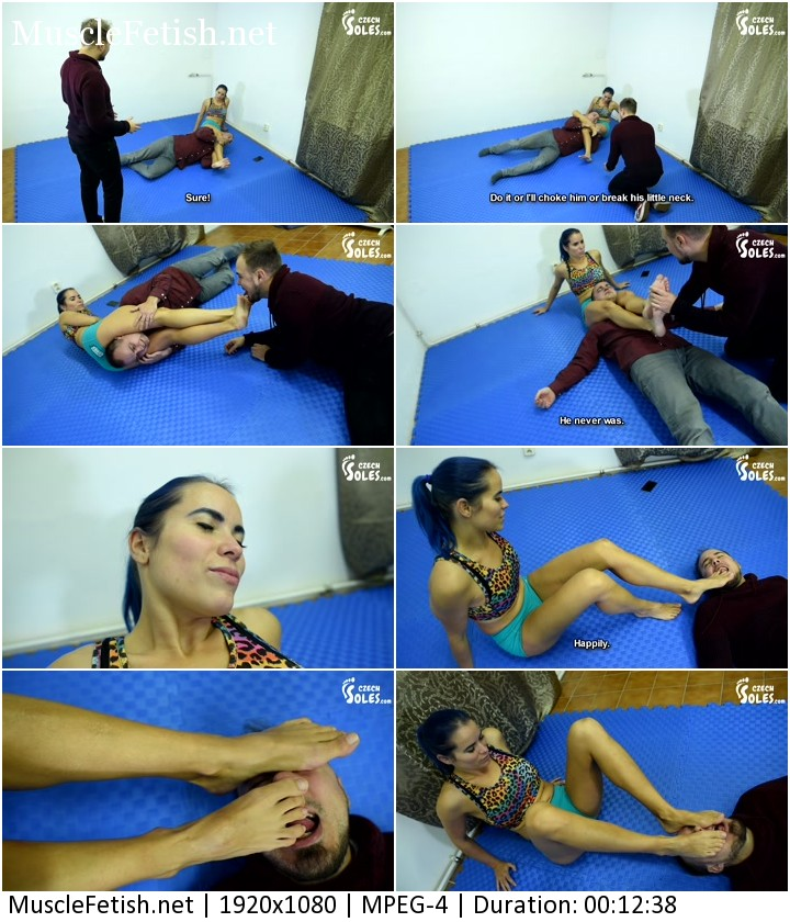 Czech Soles - Blue Kate vs Jack and Charlie - this Mistress would beat them up both