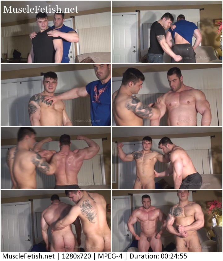 Dual muscle worship - Big Max and Jake Jethro - video from Mission4Muscle