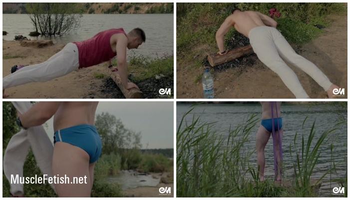 Erectmodel - Serge Workout Speedo - male model from Russia