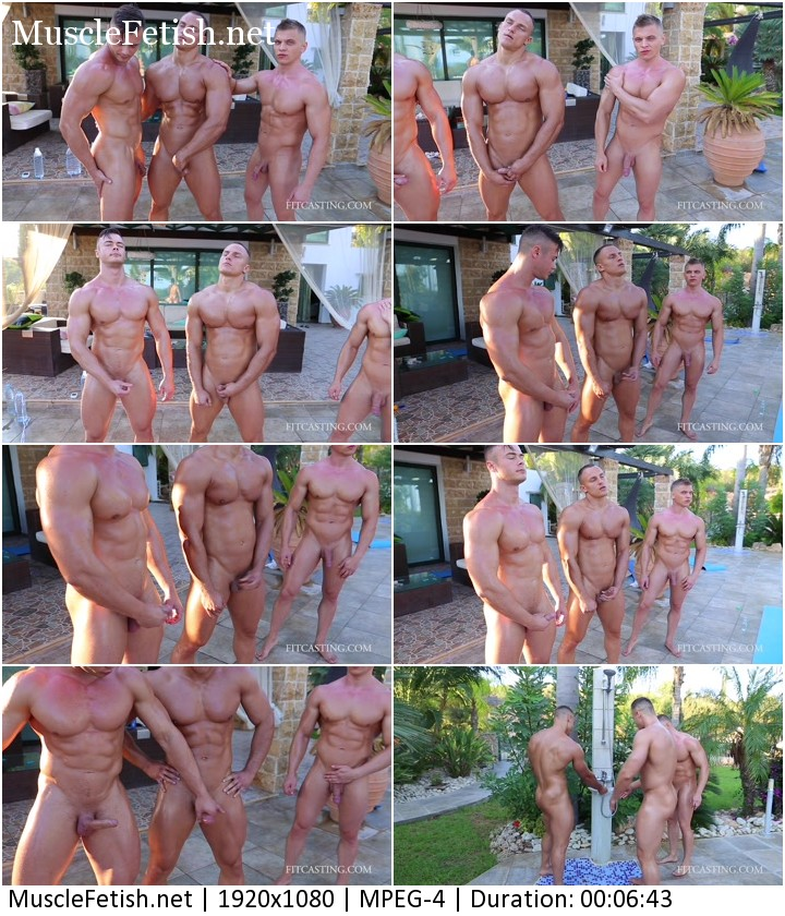 Erogenous zone training - three muscle guys from Fitcasting