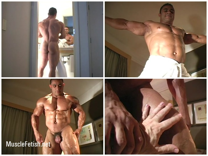 Erotic Photo Session of big bodybuilder Charles Mario (aka Alejandro Vega)