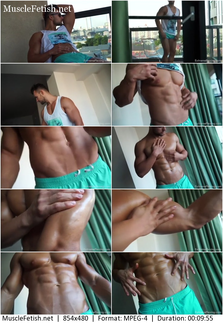 Erotic Video - Hot Fighter Raul - Sexy Muscle Neighbour (male softcore)