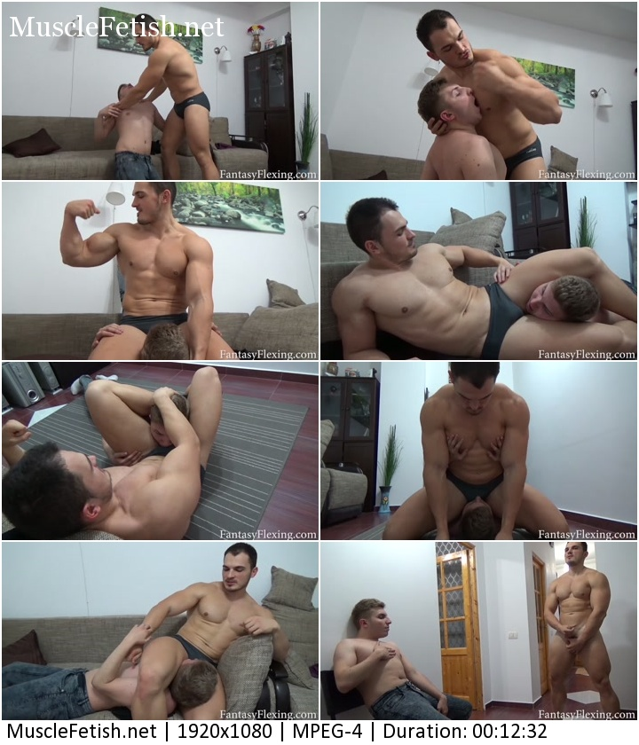 Fantasy Flexing – Sexual Abusing Twink (Muscular Male Domination)