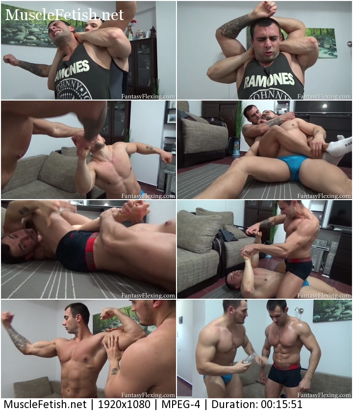 Fantasy Flexing - Muscle Worship - Male Wrestling Domination (HD)