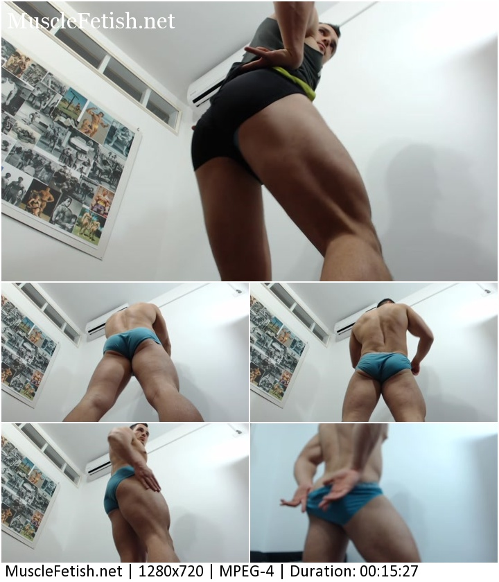 FantasyFlexing video - Big Muscle Ass Tease from Sergio (Magicstripp)