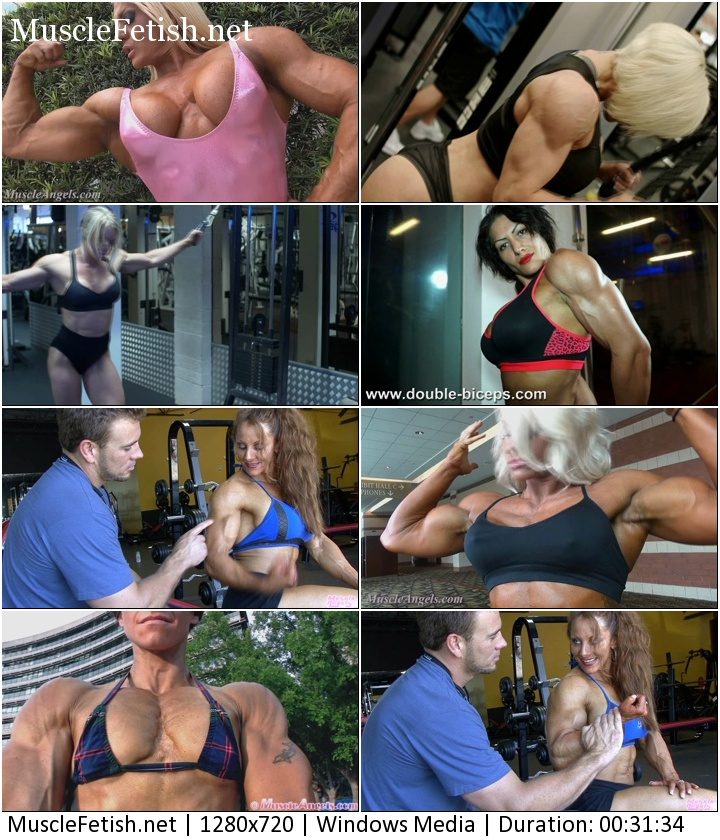 Female Muscle Collection – Sexy compilation handsome muscular girls part 2