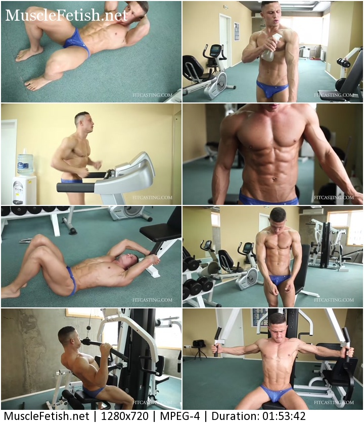 Fitcasting - Muscular Model Ruslan Posing Workout