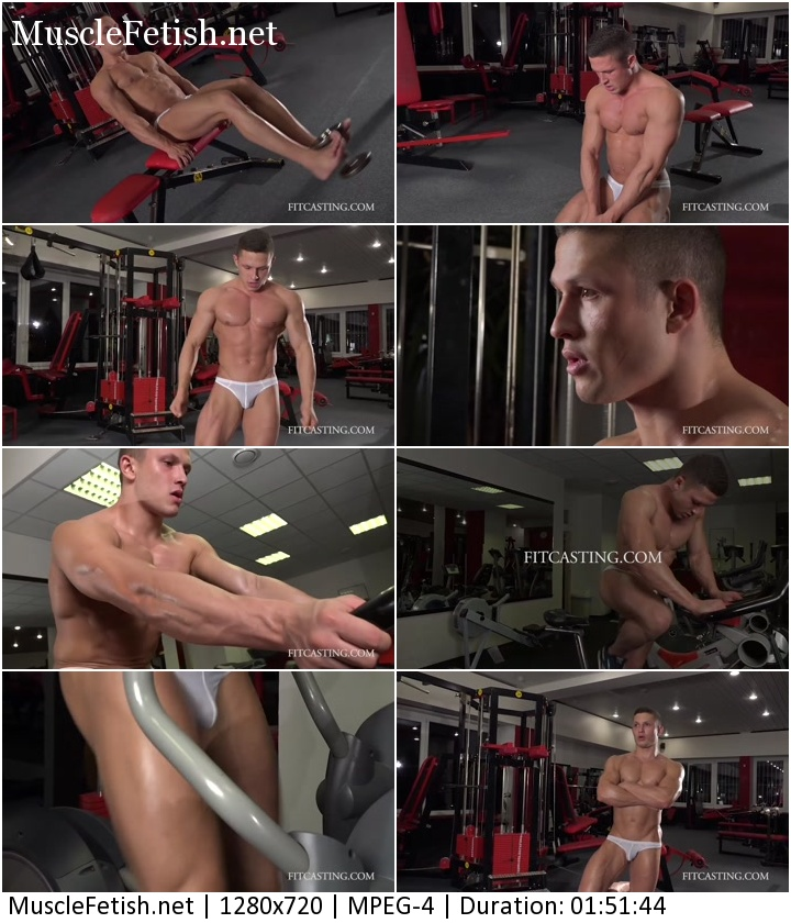 Fitcasting Video - Russian Bodybuilder Ruslan - Muscles Put to Test Photoshoot