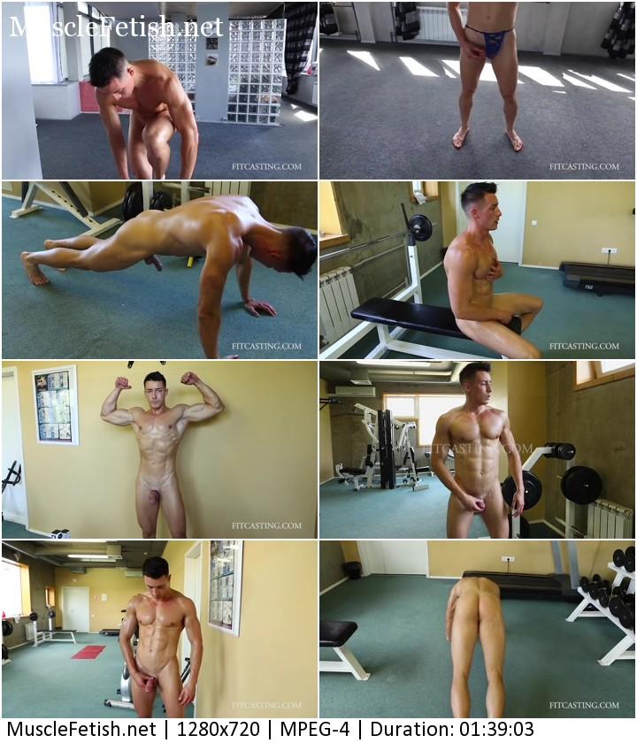 Fitcasting video - naked male model Yaroslav
